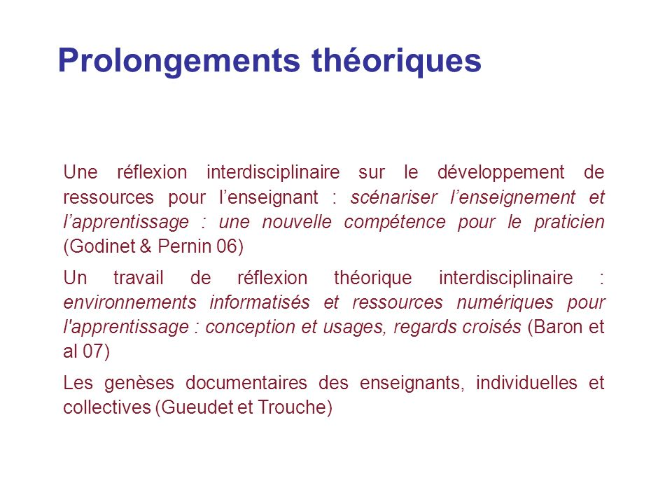 conception des instruments  usages  apprentissages