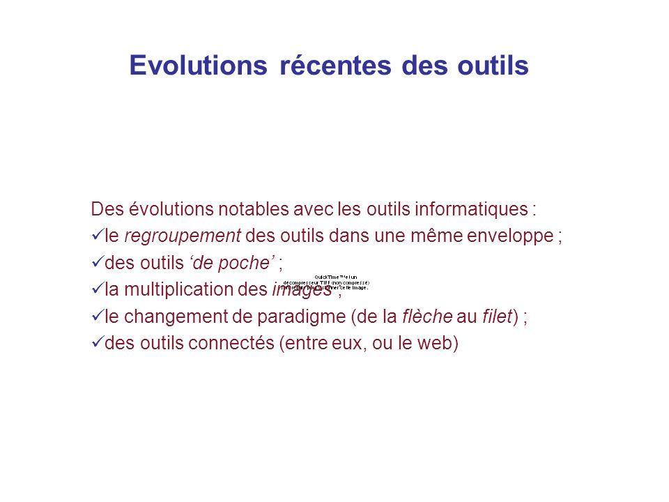 Evolutions récentes des outils