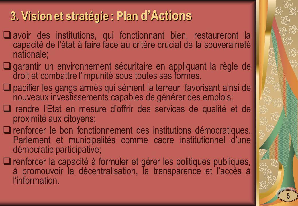3. Vision et stratégie : Plan d'Actions
