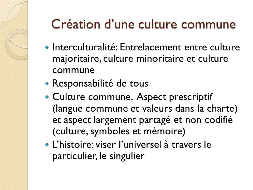Création d'une culture commune