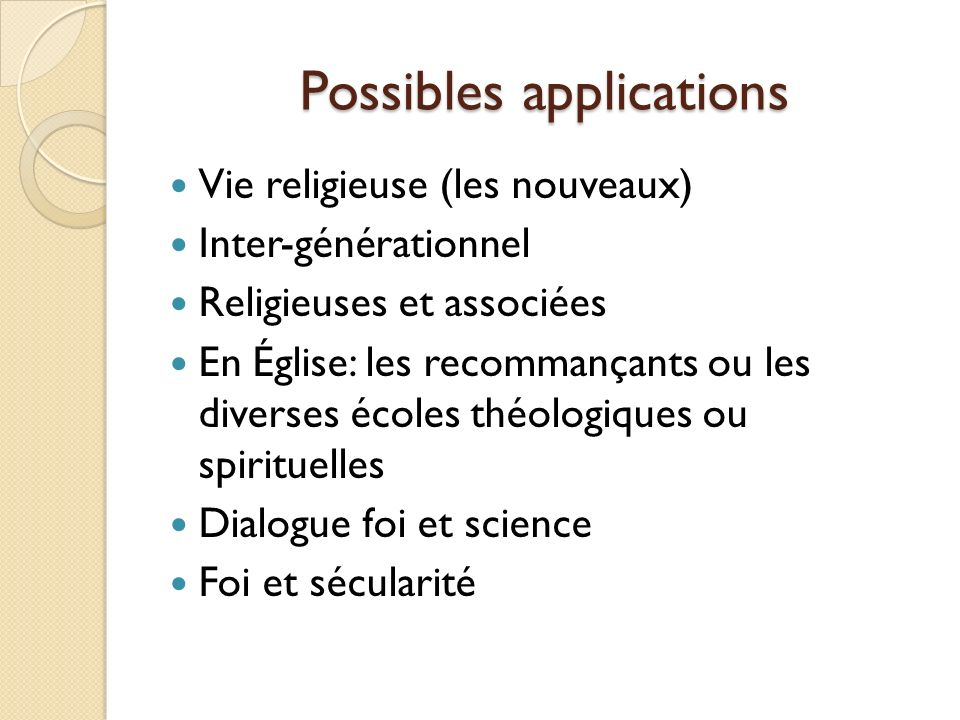 Possibles applications