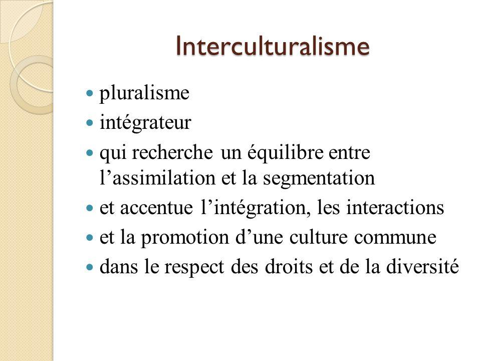 Interculturalisme pluralisme intégrateur
