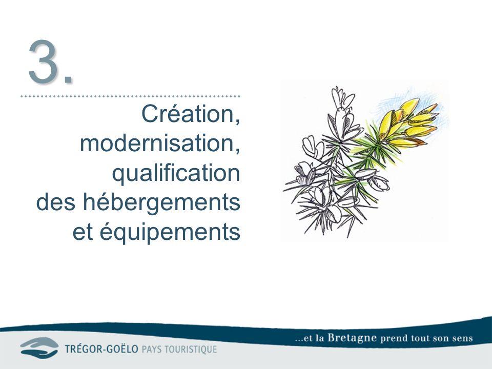 3. Création, modernisation, qualification des hébergements et équipements
