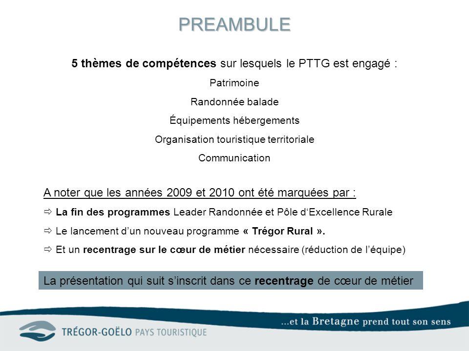 PREAMBULE 5 thèmes de compétences sur lesquels le PTTG est engagé :