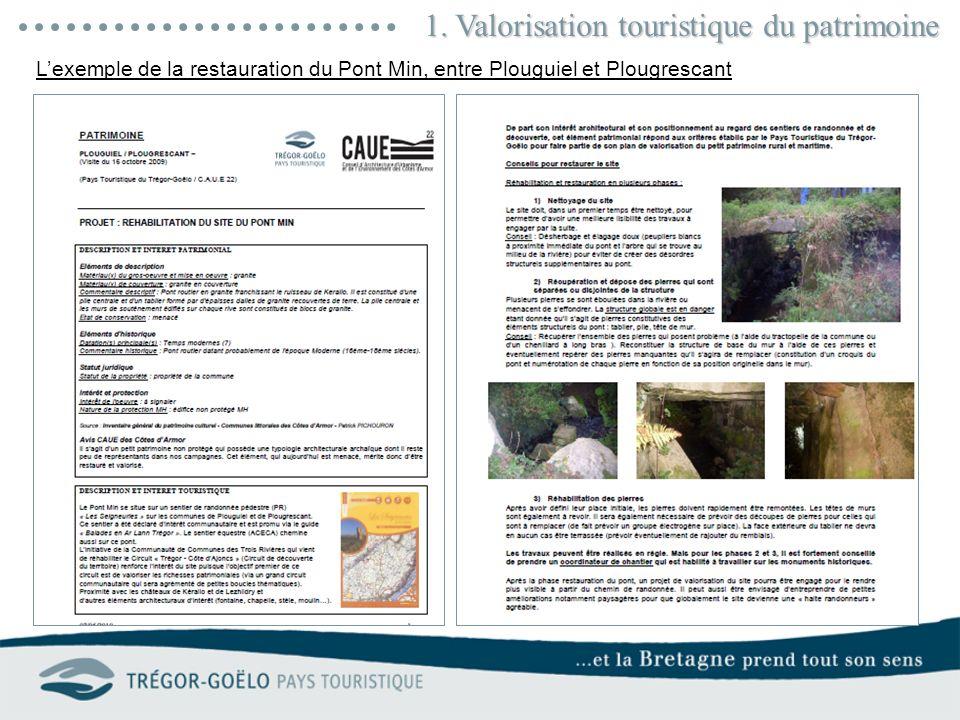 1. Valorisation touristique du patrimoine