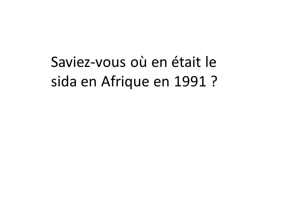 Saviez-vous où en était le sida en Afrique en 1991