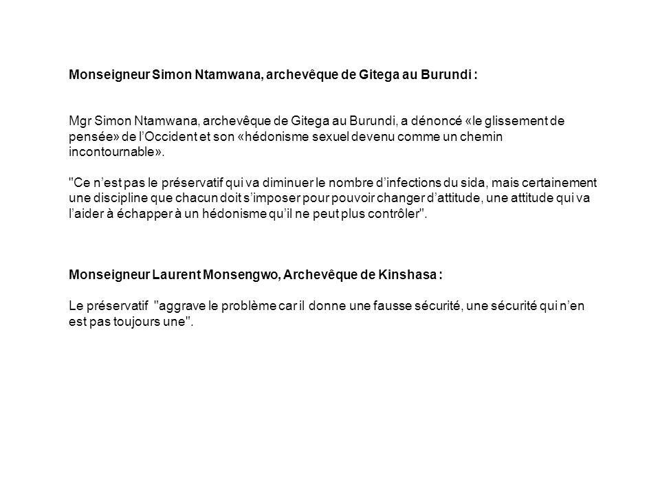Monseigneur Simon Ntamwana, archevêque de Gitega au Burundi :