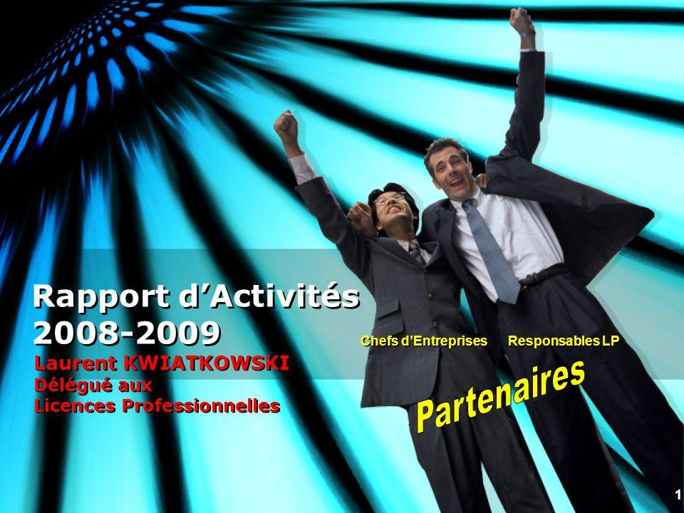 Rapport d'Activités 2008-2009 Partenaires