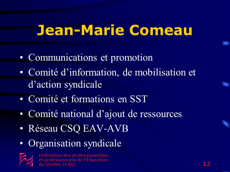 Jean-Marie Comeau Communications et promotion