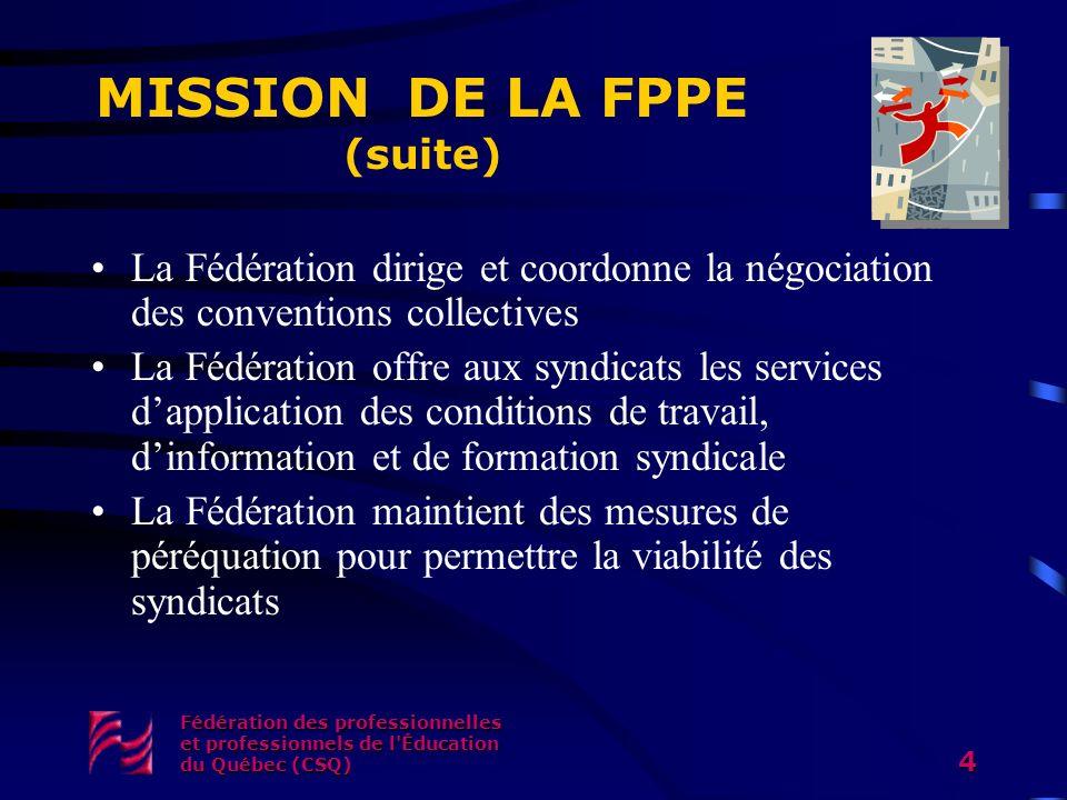 MISSION DE LA FPPE (suite)