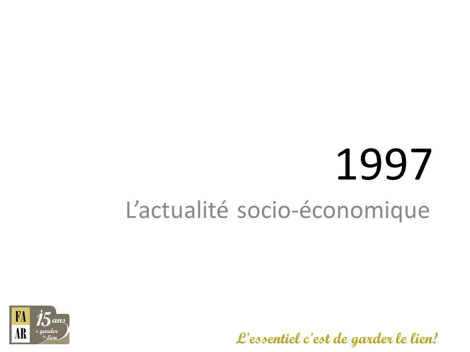 1997 L'actualité socio-économique L essentiel c est de garder le lien!