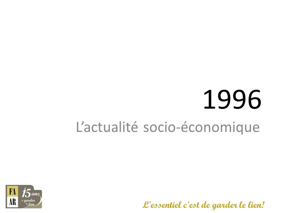 1996 L'actualité socio-économique L essentiel c est de garder le lien!