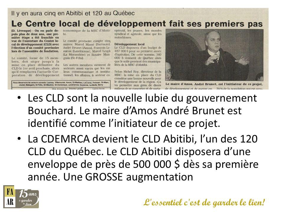 Les CLD sont la nouvelle lubie du gouvernement Bouchard