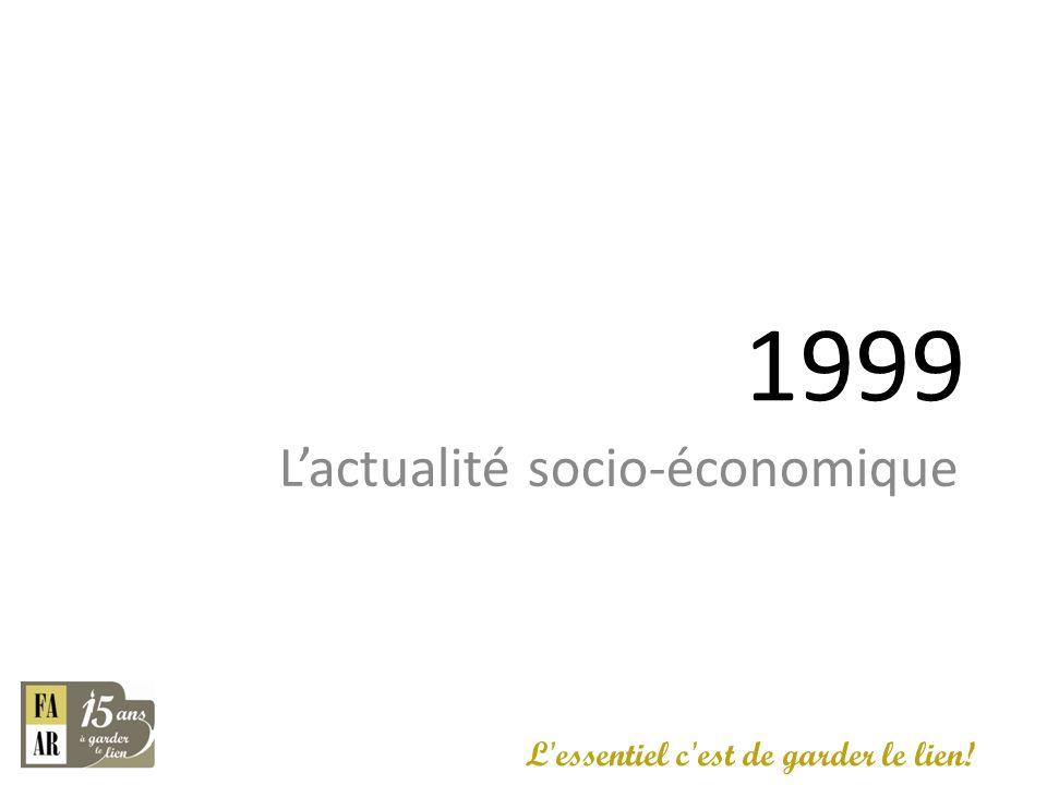 1999 L'actualité socio-économique L essentiel c est de garder le lien!