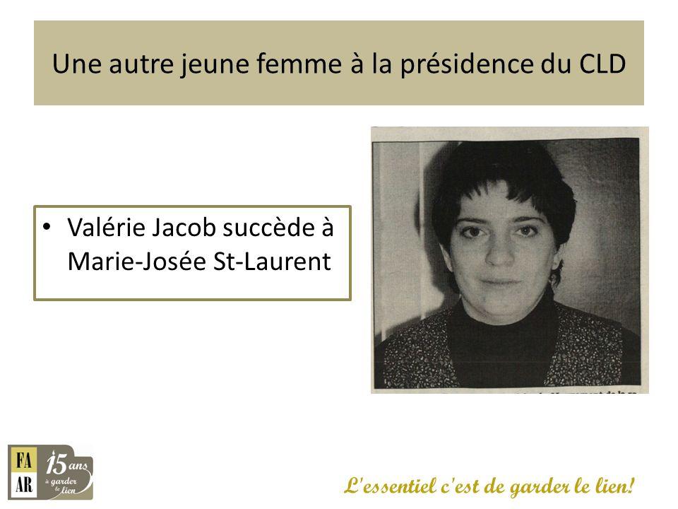 Une autre jeune femme à la présidence du CLD