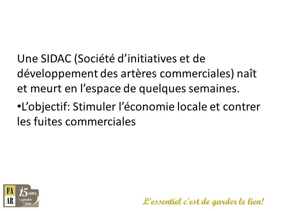 Une SIDAC (Société d'initiatives et de développement des artères commerciales) naît et meurt en l'espace de quelques semaines.