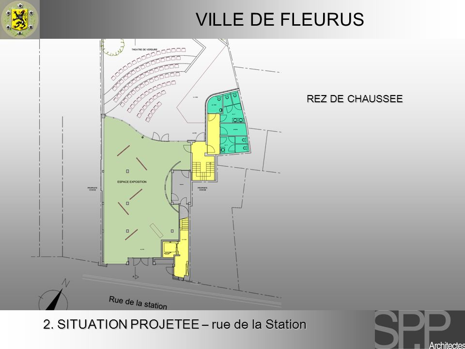 VILLE DE FLEURUS 2. SITUATION PROJETEE – rue de la Station