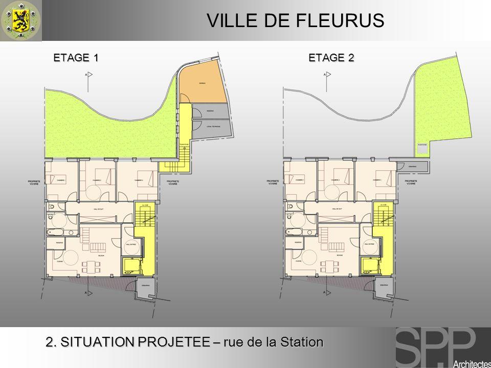 VILLE DE FLEURUS 2. SITUATION PROJETEE – rue de la Station ETAGE 1