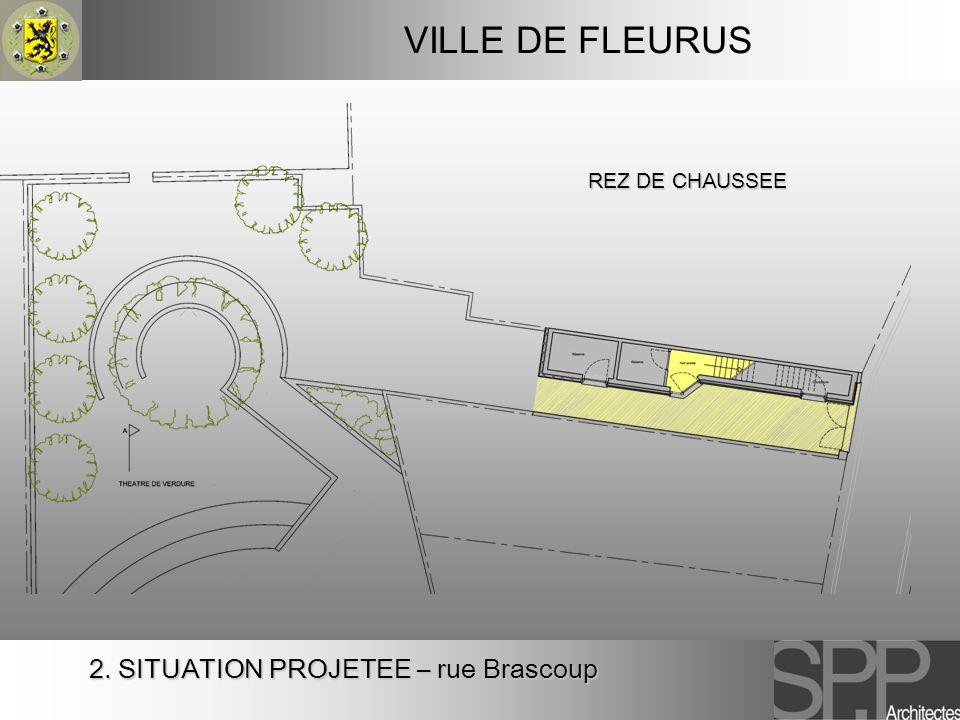VILLE DE FLEURUS REZ DE CHAUSSEE 2. SITUATION PROJETEE – rue Brascoup