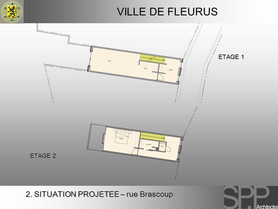 VILLE DE FLEURUS ETAGE 1 ETAGE 2 2. SITUATION PROJETEE – rue Brascoup