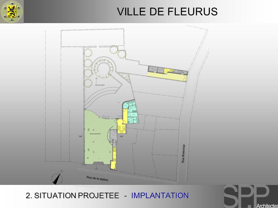 VILLE DE FLEURUS 2. SITUATION PROJETEE - IMPLANTATION