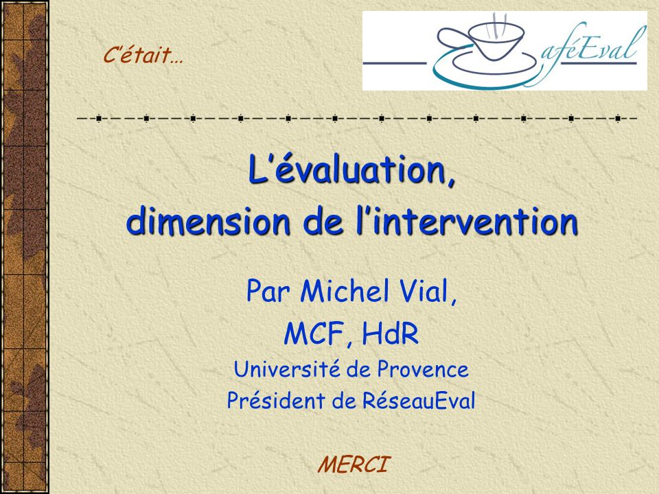 dimension de l'intervention