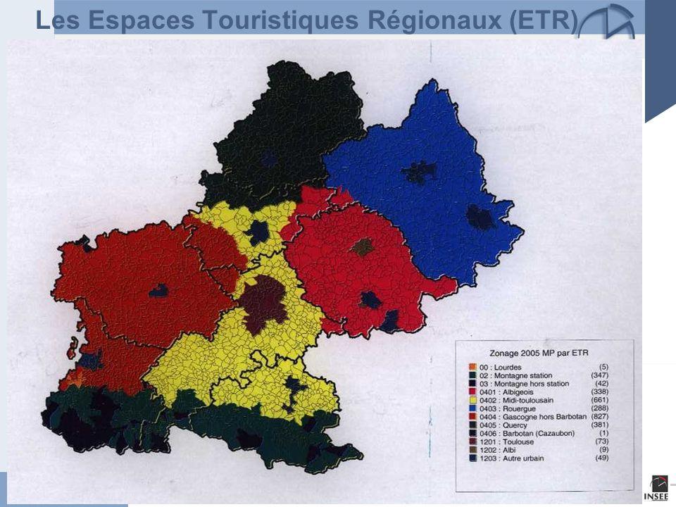 Les Espaces Touristiques Régionaux (ETR)