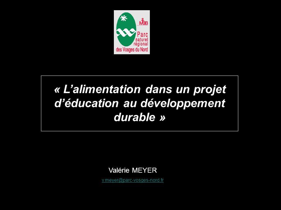 « L'alimentation dans un projet d'éducation au développement durable »