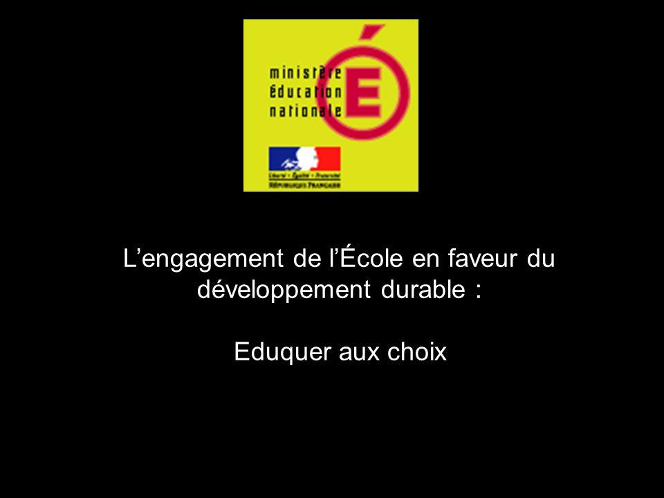 L'engagement de l'École en faveur du développement durable :