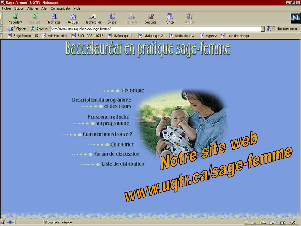 Notre site web www.uqtr.ca/sage-femme