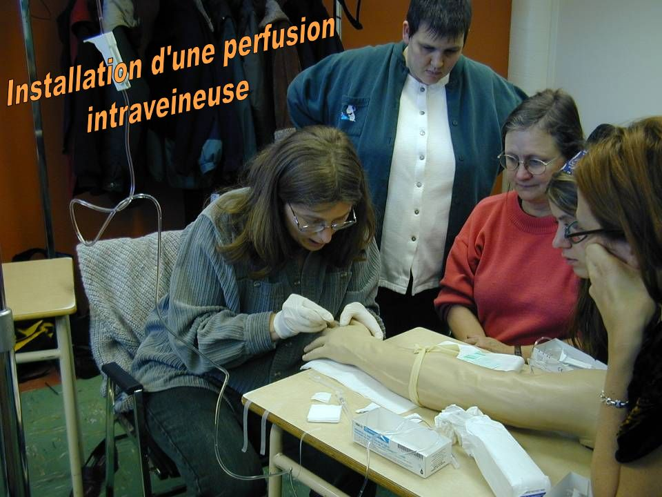 Installation d une perfusion