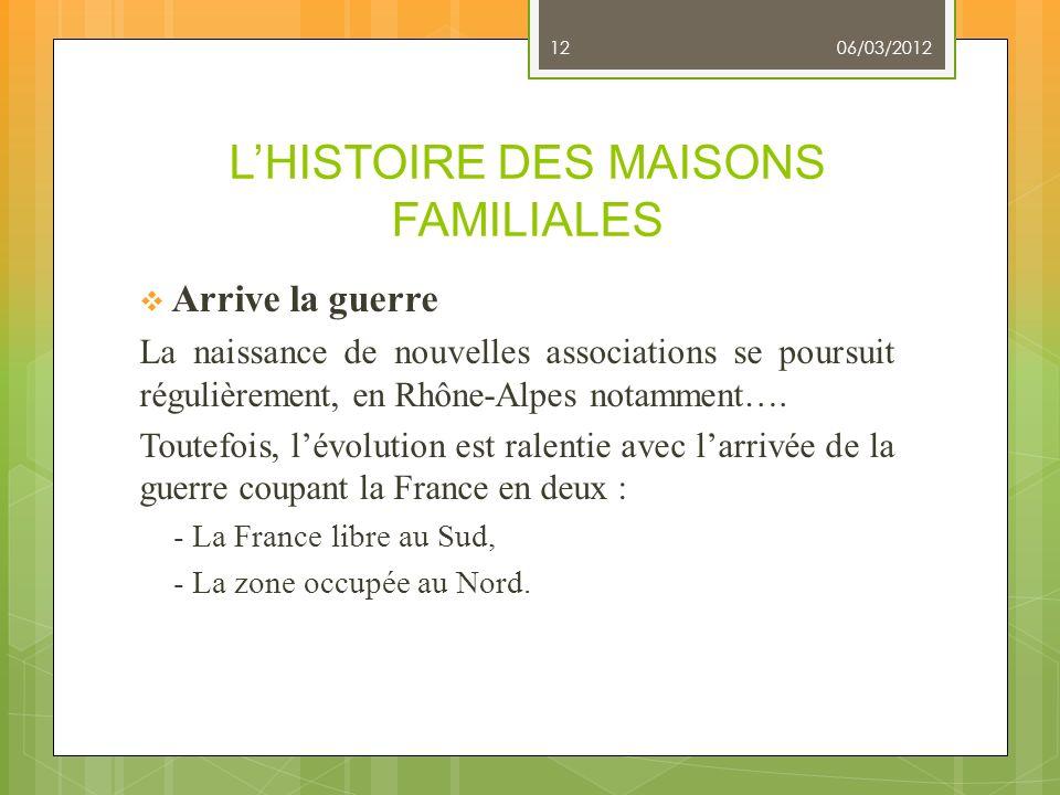 L'HISTOIRE DES MAISONS FAMILIALES