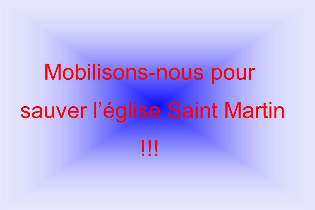 sauver l'église Saint Martin