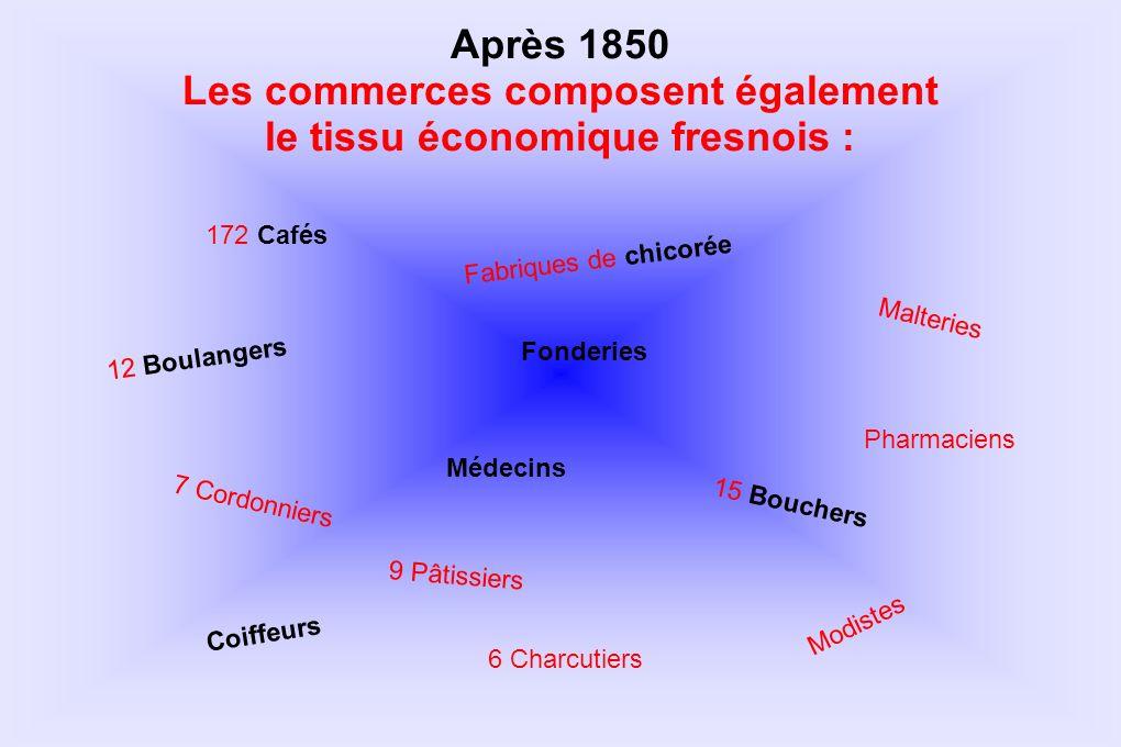 Les commerces composent également le tissu économique fresnois :
