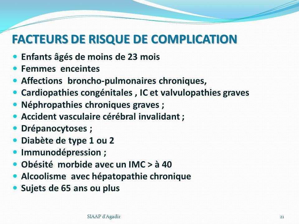 FACTEURS DE RISQUE DE COMPLICATION