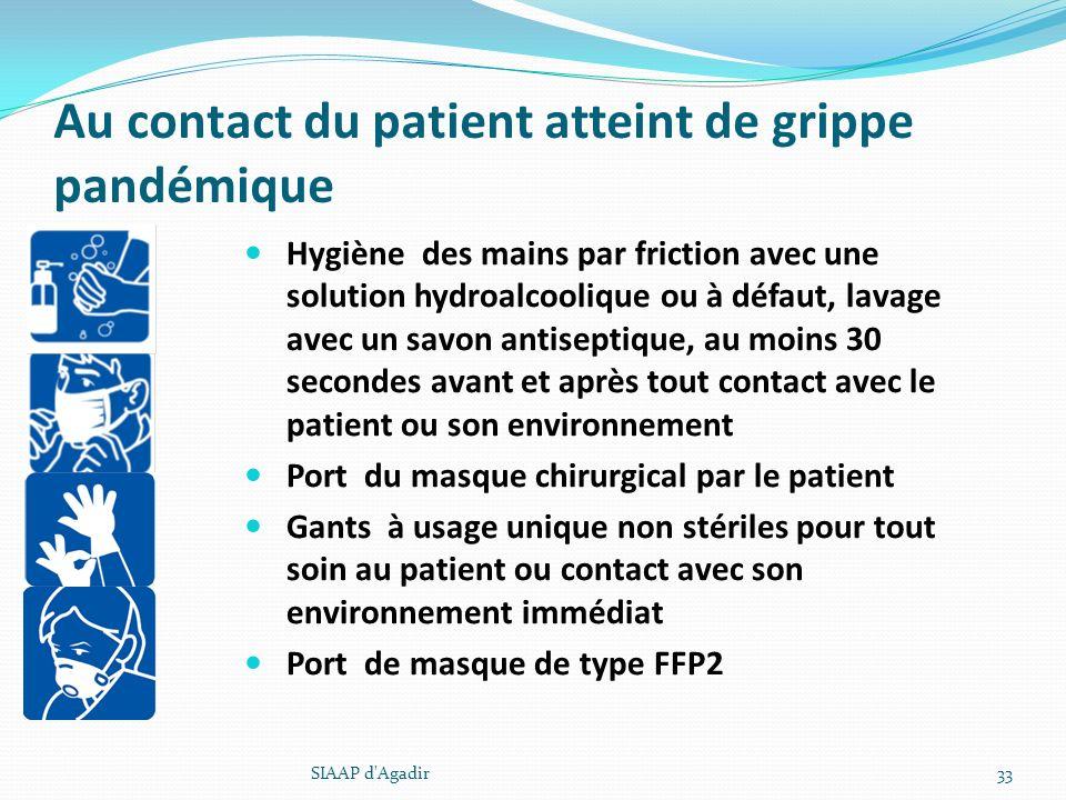 Au contact du patient atteint de grippe pandémique