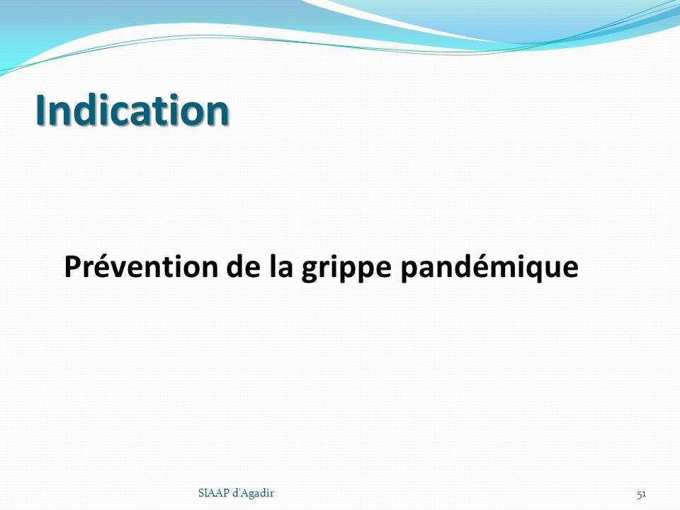 Indication Prévention de la grippe pandémique SIAAP d Agadir
