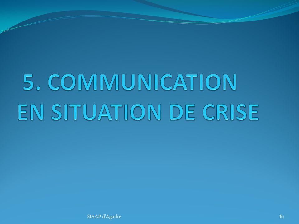 5. COMMUNICATION EN SITUATION DE CRISE