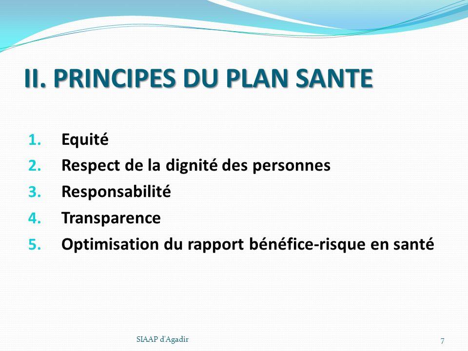 II. PRINCIPES DU PLAN SANTE