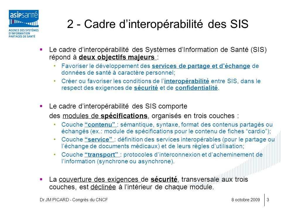 2 - Cadre d'interopérabilité des SIS