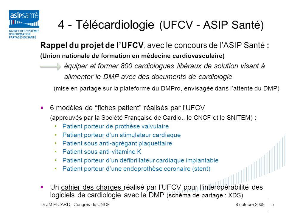 4 - Télécardiologie (UFCV - ASIP Santé)