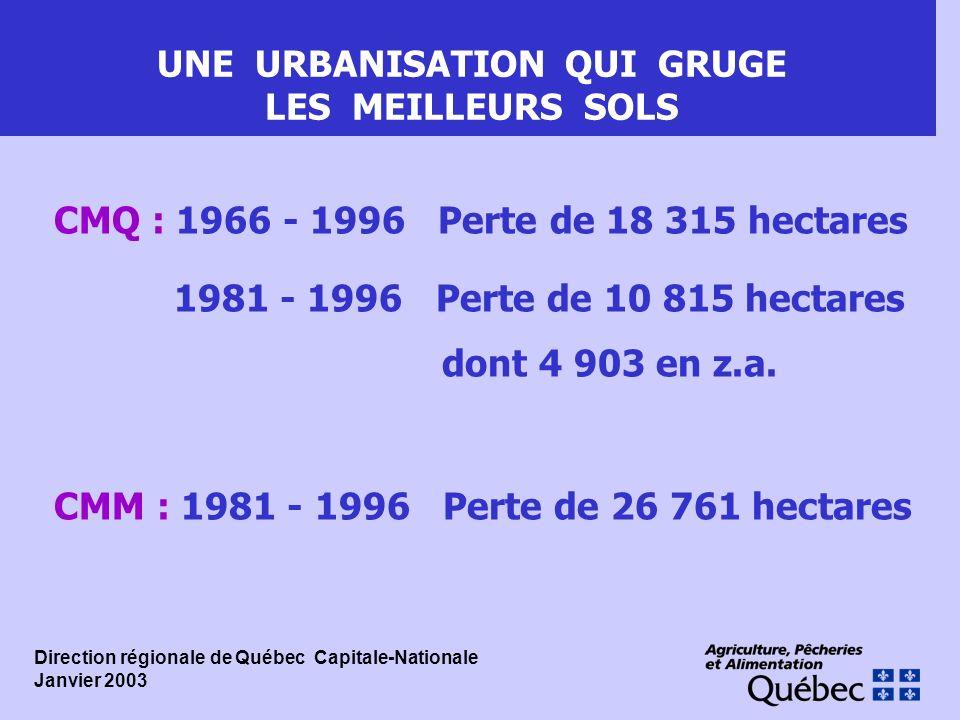 UNE URBANISATION QUI GRUGE LES MEILLEURS SOLS
