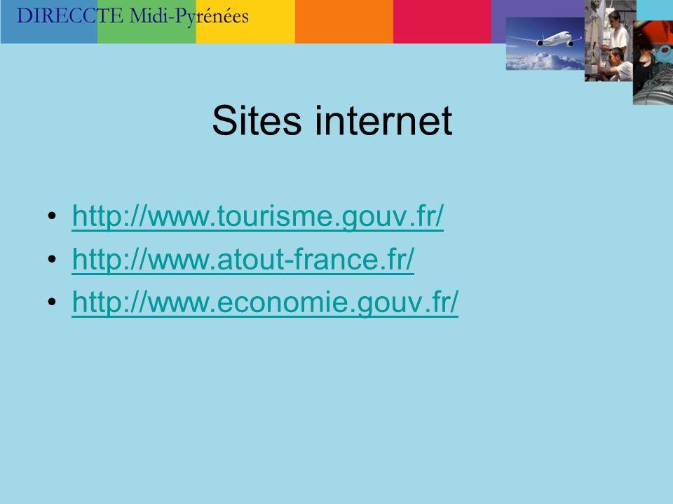 Sites internet http://www.tourisme.gouv.fr/