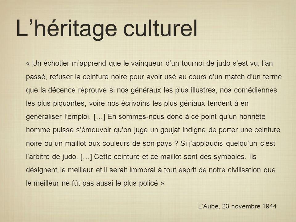 L'héritage culturel
