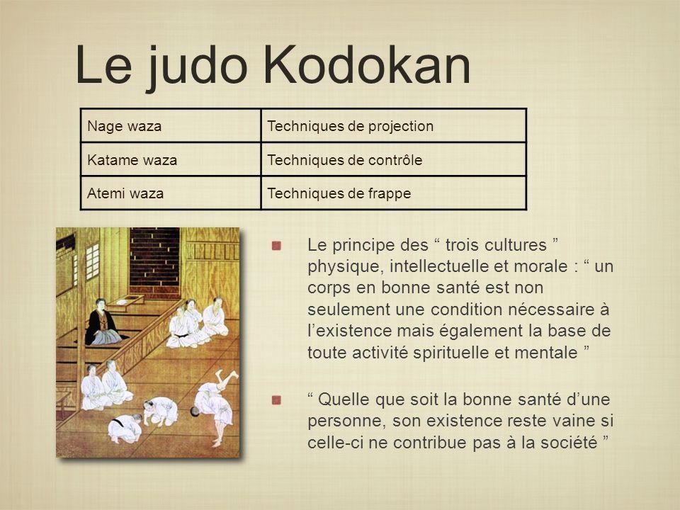 Le judo Kodokan Nage waza. Techniques de projection. Katame waza. Techniques de contrôle. Atemi waza.