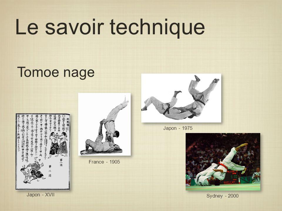 Le savoir technique Tomoe nage Japon - 1975 France - 1905 Japon - XVII