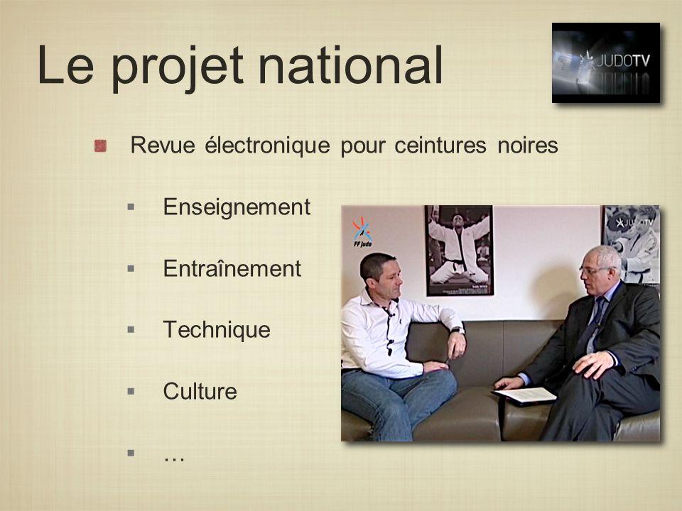 Le projet national Revue électronique pour ceintures noires
