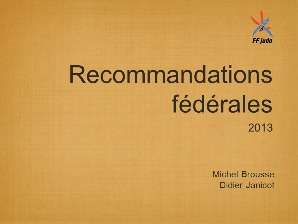 Recommandations fédérales