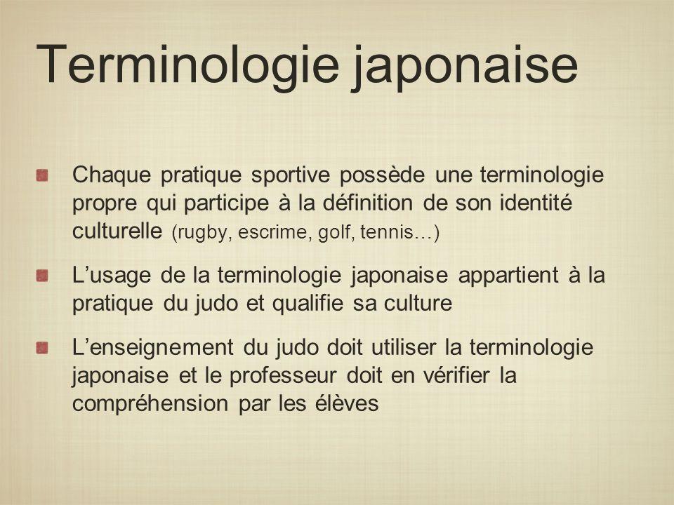 Terminologie japonaise