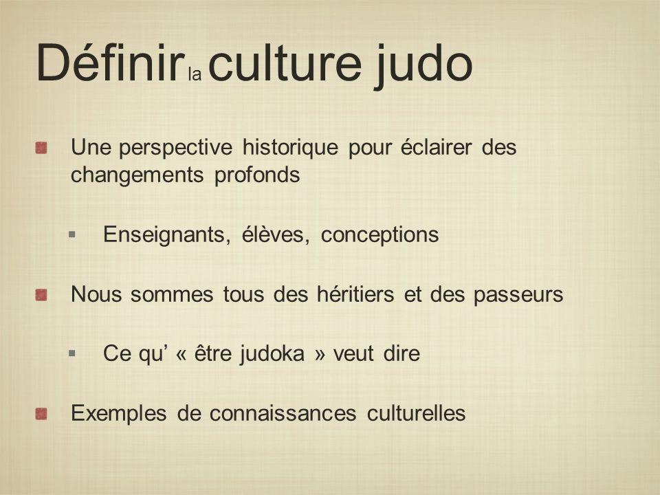 Définir la culture judo